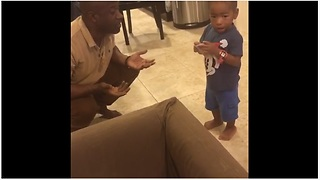 Dad Accuses Toddler Of Taking His Earphones, A Hilarious Debate Ensues - Video