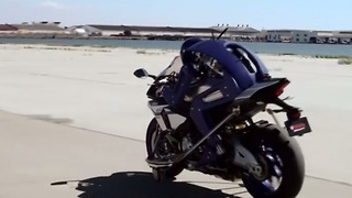 Yamaha's motorcycle-riding humanoid robot
