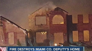 Miami Co. deputy's home destroyed by fire - Video