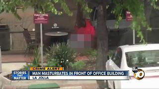 Lewd Act in front of La Jolla office building - Video