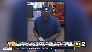 FBI searching for man who robbed 8 banks in Maryland