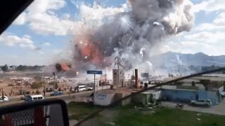 Dramatic Video Shows Enormous Explosion in Tultepec Fireworks Market - Video