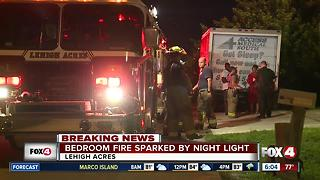 Small Lehigh Acres fire started by nighlight - Video