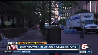 Fourth of July celebration preparations in downtown Indy - Video