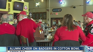 Local Badgers alumni watch Cotton Bowl together in Green Bay - Video