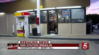 Burglar Steals Register From Nashville Gas Station - Video