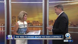 What do I need to know about signing contracts? - Video
