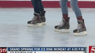 Smashville Ice Skating Rink Opens To The Public - Video