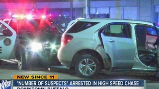 High speed chase ends in downtown Buffalo - Video