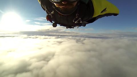 Epic heli wingsuit skydives from above the clouds