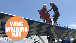 Daredevil gran, 91, sets new world record for oldest female wing walker