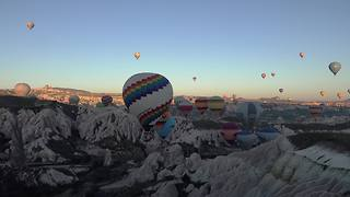 Balloon flight over Cappadocia, Turkey - Video