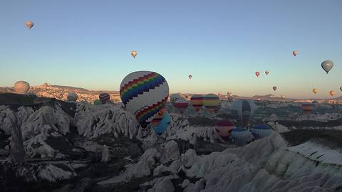 Balloon flight over Cappadocia, Turkey