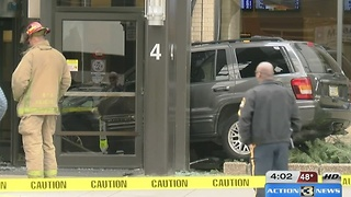 Car crashes into Eppley terminal - Video