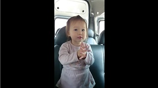 Precious singing toddler upset that song has to end - Video
