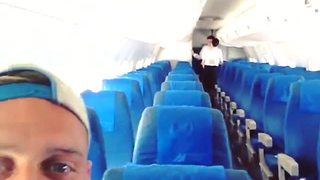 Tourist captures experience as only passenger on commercial airliner - Video