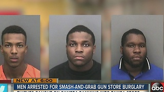 Arrests made in Tampa Arms gun shop burglary