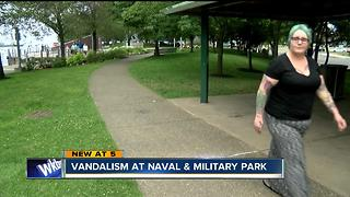 Vandals burn wreaths at Buffalo Naval Park - Video