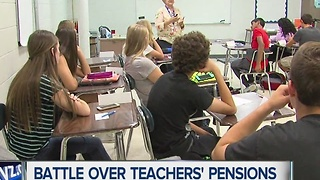 Battle over teachers' pensions