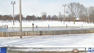 Crews Working on Ice Rinks - Video