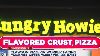 Threatened pizza manager speaks out - Video