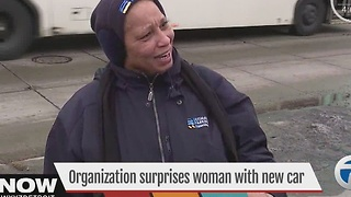 Organization surprises woman with new car - Video