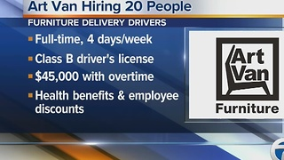 Workers Wanted: Art Van hiring 20 people - Video