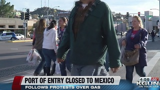 Officials have closed southbound lanes into Mexico at the Deconcini Port of Entry - Video