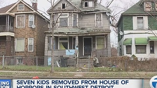7 children removed from house on Detroit's southwest side - Video