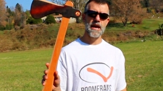 Boomerang axe that really returns when thrown - Video