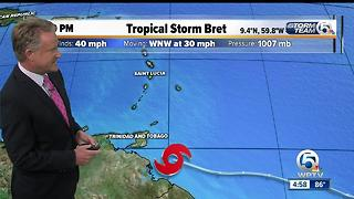 Tropical Storm Bret forms