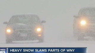 Snow hits the South Towns - Video