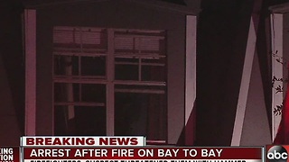 Arrest after fire on Bay to Bay - Video