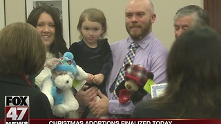 Christmas adoptions finalized today - Video