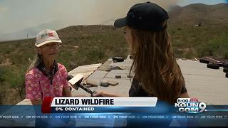 Lizard Fire causes evacuations in Dragoon - Video