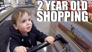Two year old shopping at Whole Foods is the most adorable thing you'll see today