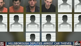 Hillsborough deputies arrest car thieves - Video