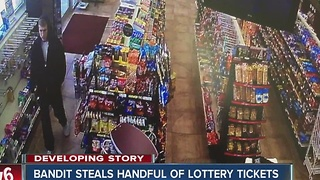 IMPD search for lottery ticket bandit - Video