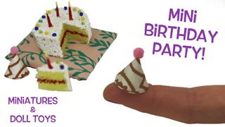 DIY miniature birthday cake and party hats - Video
