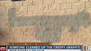 Graffiti cleaned up in neighborhood - Video