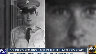 Soldier's remains back in the U.S. after 65 years - Video