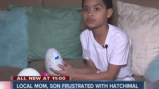 Local mom, son frustrated with Hatchimal dud - Video