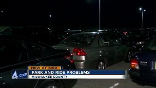 Illegally parked cars at Park and Ride causes headaches - Video