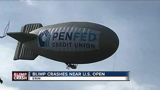 Witnesses shocked by Blimp crash at the U.S. Open - Video