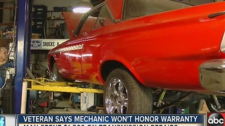 Veteran with cancer says mechanic ripped him off - Video