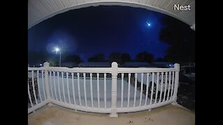 Security Footage Captures Beautiful Meteor Shower