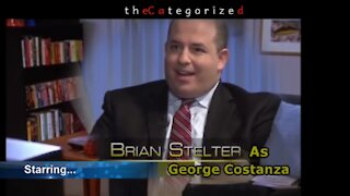 Brian Stelter or George Costanza? Meet Brian Costanza! - Classic answering machine scene replacement