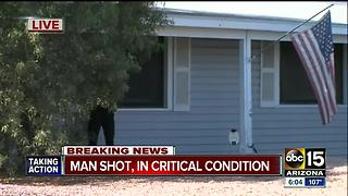 PD: 1 critical after shooting in north Phoenix - Video