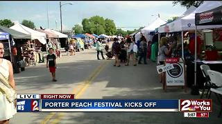 Porter Peach Festival kicks off - Video