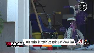 KCK police investigate string of break-ins - Video